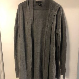 NY&C gray long sleeve cardigan